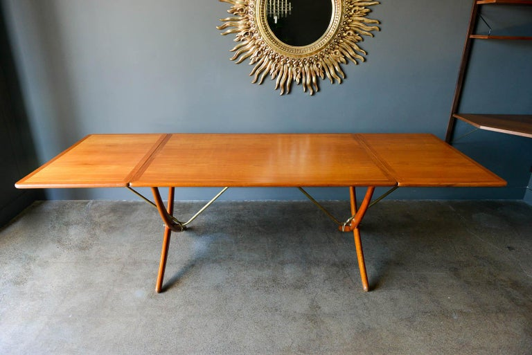 Scandinavian Modern Hans Wegner for Andreas Tuck Model AT-304 Dining Table, circa 1955 For Sale