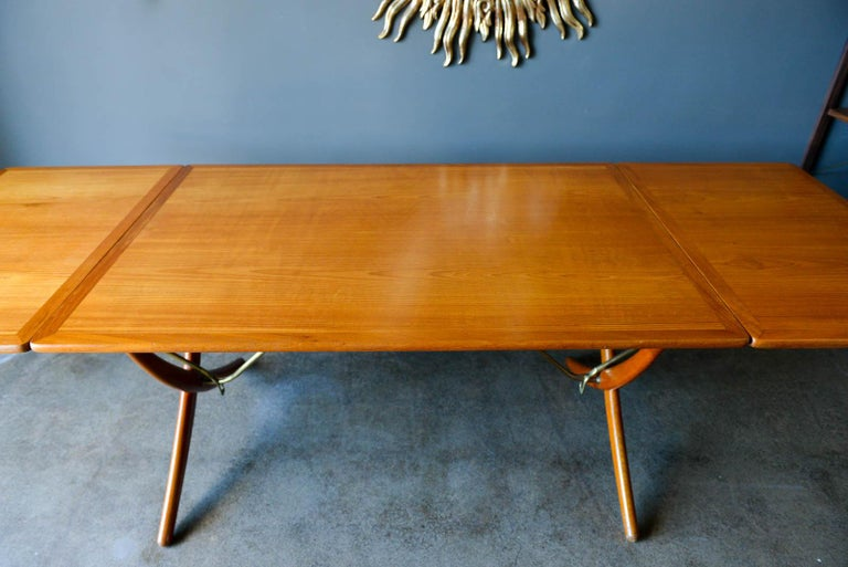 Mid-20th Century Hans Wegner for Andreas Tuck Model AT-304 Dining Table, circa 1955 For Sale