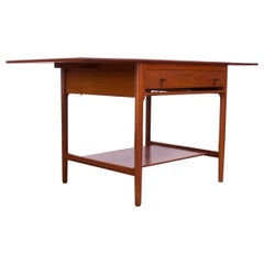 Hans Wegner for Andreas Tuck Model AT33 Drop-Leaf Sewing Table in Teak