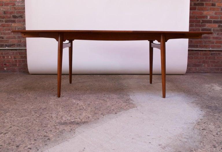 Hans Wegner for Andreas Tuck Teak Extension Dining Table For Sale 4