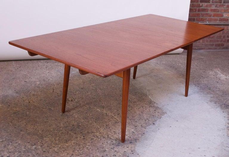Hans Wegner for Andreas Tuck Teak Extension Dining Table For Sale 6