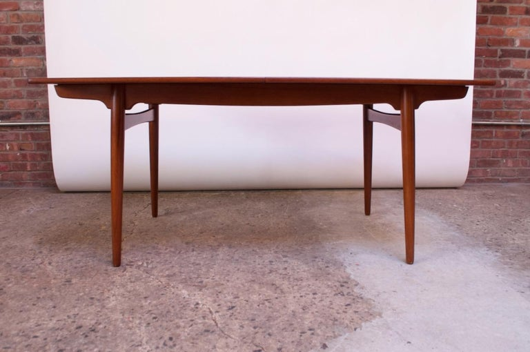 Hans Wegner for Andreas Tuck Teak Extension Dining Table For Sale 8
