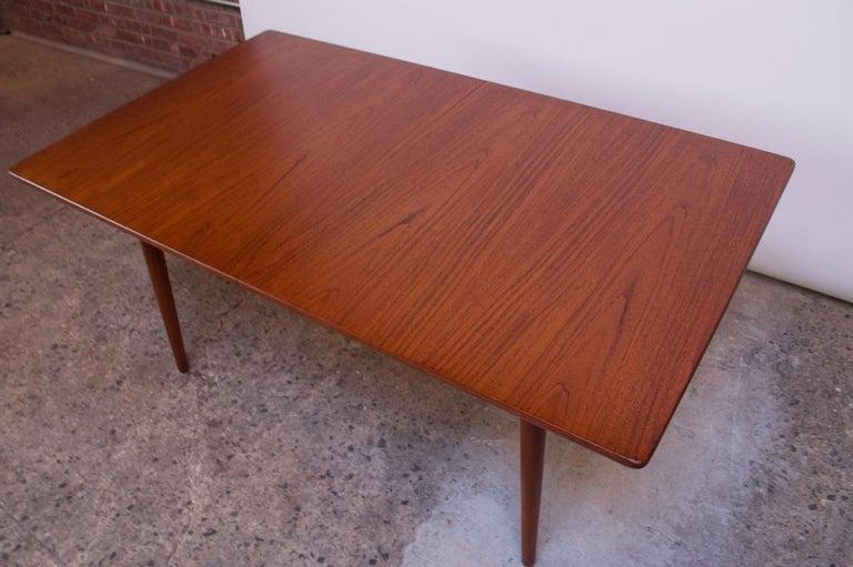 Hans Wegner for Andreas Tuck Teak Extension Dining Table For Sale 10