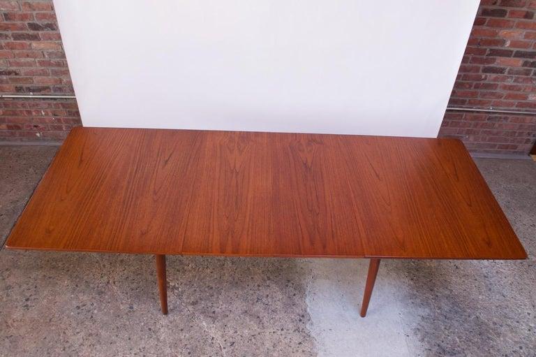 Scandinavian Modern Hans Wegner for Andreas Tuck Teak Extension Dining Table For Sale