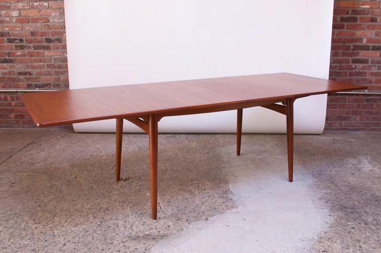 Danish Hans Wegner for Andreas Tuck Teak Extension Dining Table For Sale