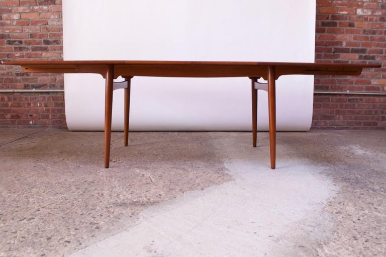 Mid-20th Century Hans Wegner for Andreas Tuck Teak Extension Dining Table For Sale