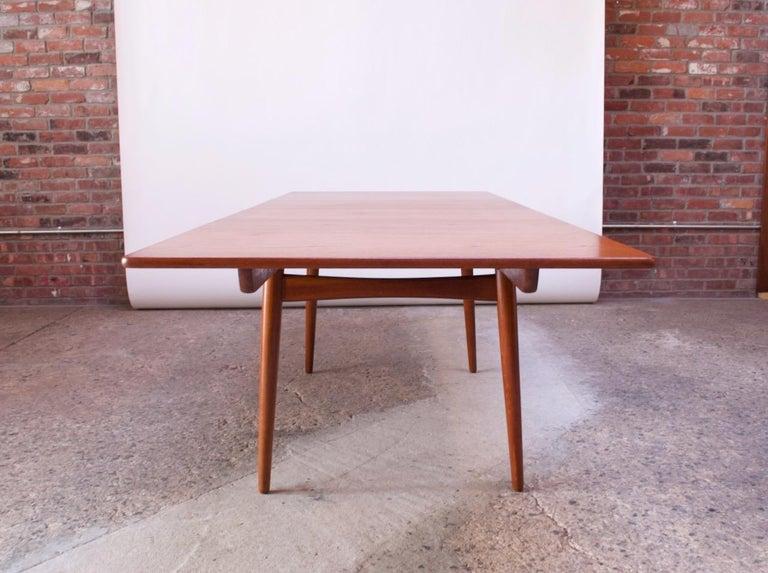 Oak Hans Wegner for Andreas Tuck Teak Extension Dining Table For Sale