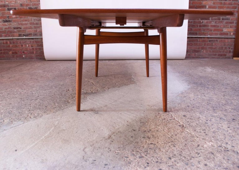 Hans Wegner for Andreas Tuck Teak Extension Dining Table For Sale 1