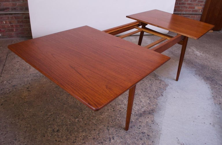 Hans Wegner for Andreas Tuck Teak Extension Dining Table For Sale 2