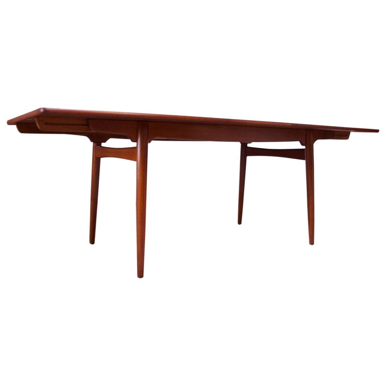 Hans Wegner for Andreas Tuck Teak Extension Dining Table For Sale