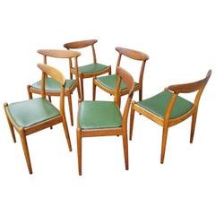 Hans Wegner for C.M. Madsens W2 Danish Modern Dining Chairs, Set of 6