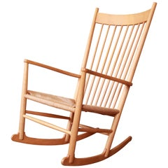 Hans Wegner for FDB Møbler Danish Modern J-16 Rocking Chair