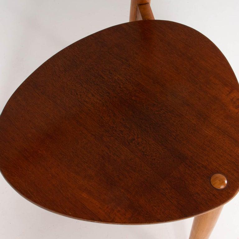 Mid-20th Century Hans Wegner for Fritz Hansen FH4103 Beech & Teak Heart Dining Chair For Sale