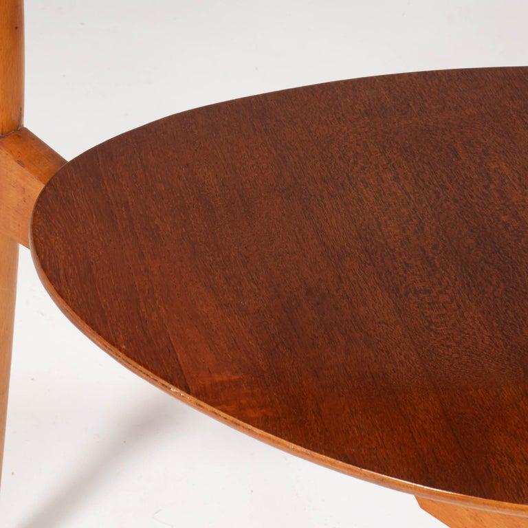 Hans Wegner for Fritz Hansen FH4103 Beech & Teak Heart Dining Chair For Sale 1