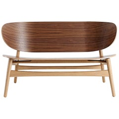 Hans Wegner GE-1935 Bench, Lacquered Oak