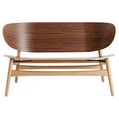Hans Wegner GE-1935 Bench, Stained Oak