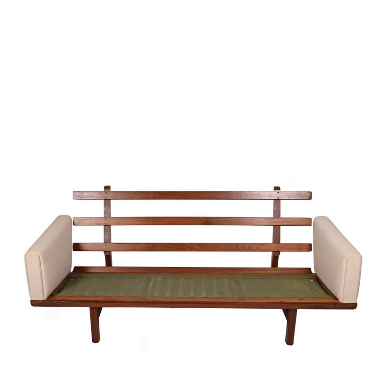 Scandinavian Modern Hans Wegner GE236/3 Sofa for GETAMA in Solid Teak