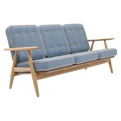 Hans Wegner GE-240/3 Sofa, Lacquered Oak