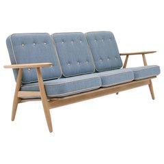 Hans Wegner GE-240/3 Sofa, Stained Oak