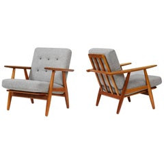 Hans Wegner GE-240 Cigar Chairs, Oak