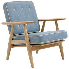 Hans Wegner GE-240 Lounge Chair, Lacquered Oak