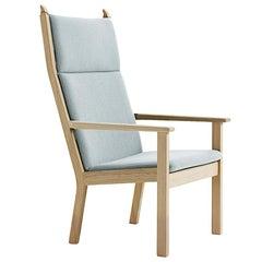 Hans Wegner GE-284A Highback Lounge Chair, Lacquered Beech