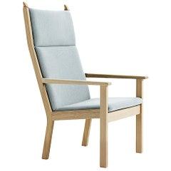 Hans Wegner GE-284A Highback Lounge Chair, Oak