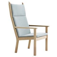 Hans Wegner GE-284A Highback Lounge Chair, Stained Beech