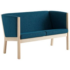 Hans Wegner GE 285 2-Seat Sofa, Stained Oak