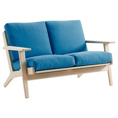 Hans Wegner GE-290/2 Sofa, Stained Beech