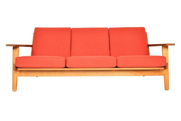 Scandinavian Modern Hans Wegner GE-290-3 Three-Seat Sofa in Oak For Sale