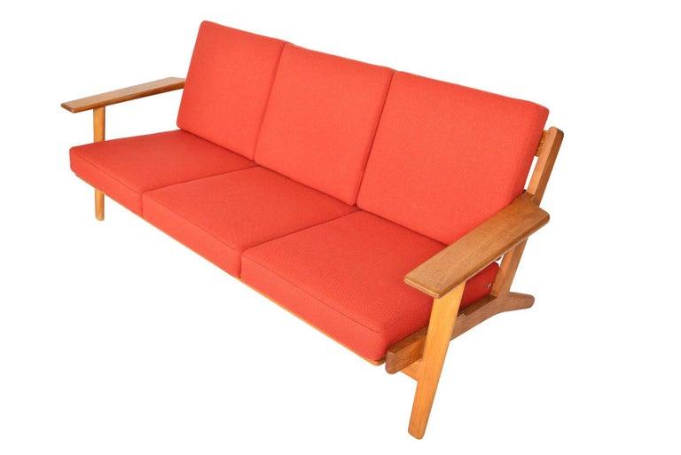 20th Century Hans Wegner GE-290-3 Three-Seat Sofa in Oak For Sale
