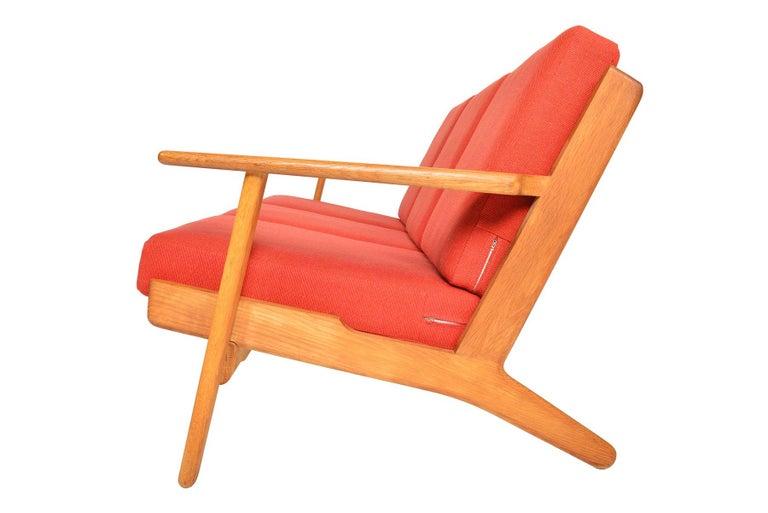 Hans Wegner GE-290-3 Three-Seat Sofa in Oak For Sale 1