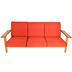 Hans Wegner GE-290-3 Three-Seat Sofa in Oak