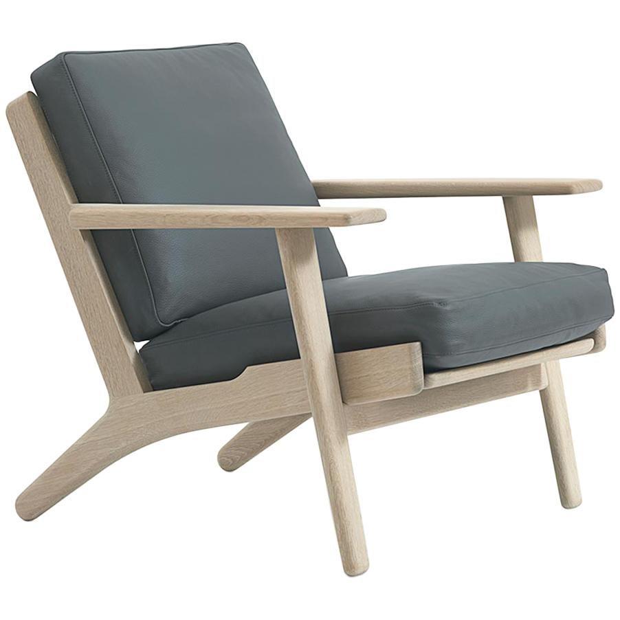 Hans Wegner GE-290 Lounge Chair, Lacquered Oak