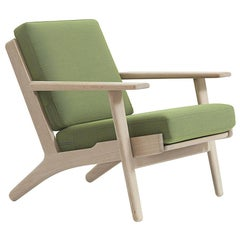 Hans Wegner GE-290 Lounge Chair, Stained Beech