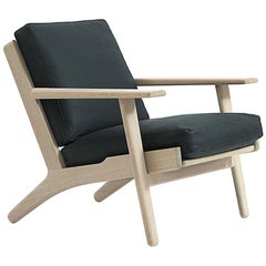 Hans Wegner GE-290 Lounge Chair, Stained Oak