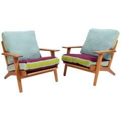 "Hans Wegner ""GE 290"" - Oak Easy Chairs"