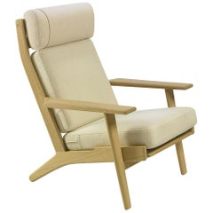 Hans Wegner GE-290A Lounge Chair, Lacquered Oak