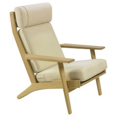 Hans Wegner GE-290A Lounge Chair, Oak