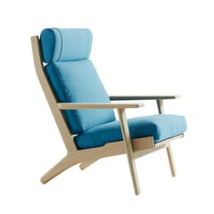 Hans Wegner GE-290A Lounge Chair, Stained Beech