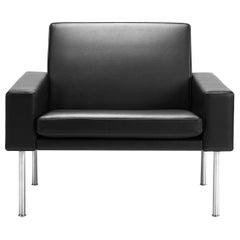 Hans Wegner GE-34 Lounge Chair, Lacquered Oak