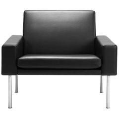 Hans Wegner GE-34 Lounge Chair, Steel