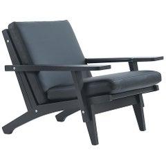 Hans Wegner GE-370 Armchair, Lacquered Oak