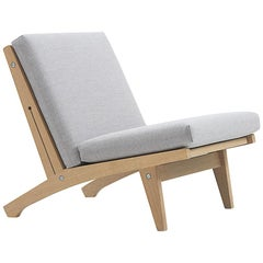 Hans Wegner GE-370 Lounge Chair, Lacquered Oak