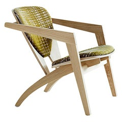 Hans Wegner GE-460 Butterfly Lounge Chair, Lacquered Beech