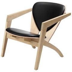 Hans Wegner GE-460 Butterfly Lounge Chair, Lacquered Oak