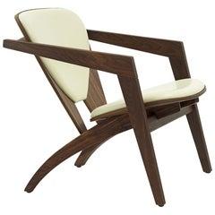 Hans Wegner GE-460 Butterfly Lounge Chair, Oiled Walnut