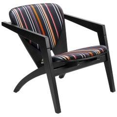 Hans Wegner GE-460 Butterfly Lounge Chair, Stained Oak