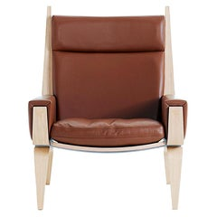 Hans Wegner GE-501A Lounge Chair, Lacquered Oak